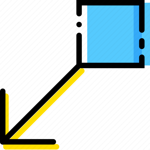 arrow, bottom, direction, drag, left, orientation icon