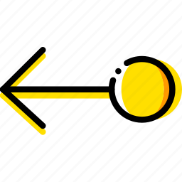 arrow, direction, drag, left, object, orientation icon