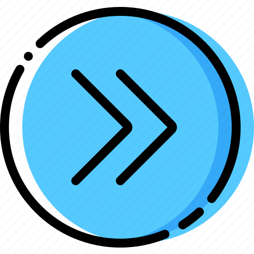 arrow, direction, fast, orientation, right icon