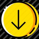 arrow, direction, down, orientation