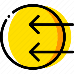 arrow, direction, import, in, orientation icon
