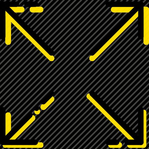 arrow, direction, expand, orientation icon