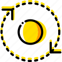 around, arrow, direction, orbit, orientation