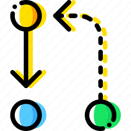 and, arrow, direction, divide, evolve, orientation icon