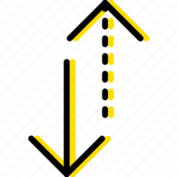 alternative, arrow, direction, orientation, vertical icon