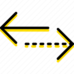 alternative, arrow, direction, horizontal, orientation icon