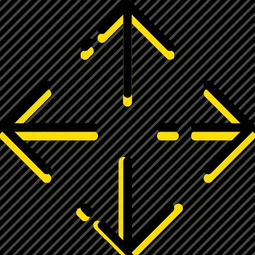 arrow, direction, orientation, reposition icon