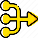 arrow, direction, multiply, orientation, right icon