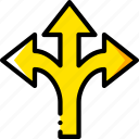 arrow, arrows, direction, orientation, three icon