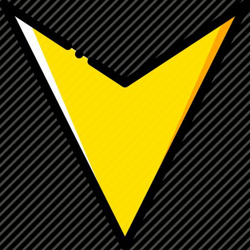 arrow, direction, down, orientation icon