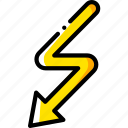 arrow, detour, direction, orientation icon