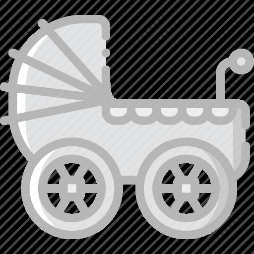 baby, child, kid, stroller icon