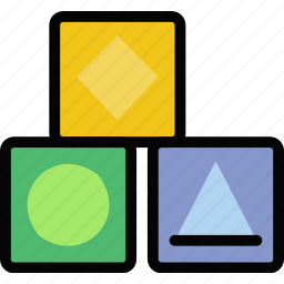 baby, child, cubes, kid icon