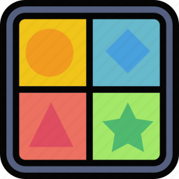 baby, child, game, kid, shape icon