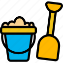 baby, child, kid, sand, toys icon