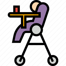 baby, chair, child, feeding, kid icon
