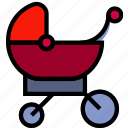 baby, child, kid, sleeping, stroller icon