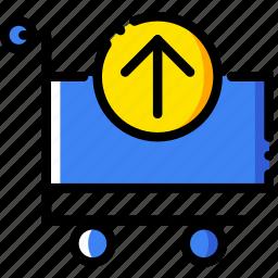 business, cart, contents, finance, marketing, retrieve icon