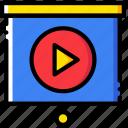 business, finance, marketing, presentation, video icon