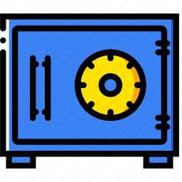 business, finance, marketing, safebox icon