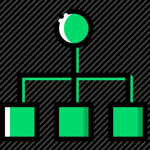 business, diagram, finance, marketing, organization icon
