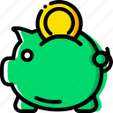 bank, business, finance, marketing, piggy icon