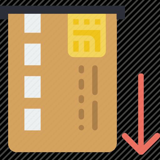 business, card, finance, marketing, retrieve icon