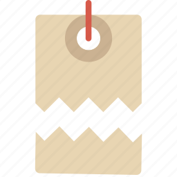 business, finance, marketing, price, tag, torn icon