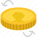 business, coin, finance, flip, marketing icon