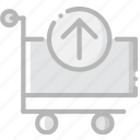business, cart, contents, finance, marketing, retrieve icon