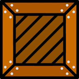 business, crate, finance, marketing, wooden icon