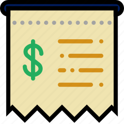 business, finance, marketing, receipt icon