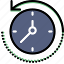 business, finance, marketing, rewing, time icon