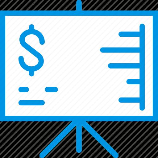 business, finance, financial, marketing, presentation icon