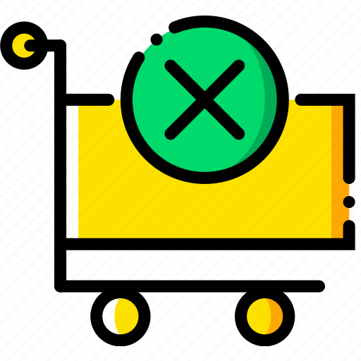 business, cart, contents, delete, finance, marketing icon