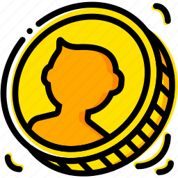 business, coin, finance, marketing, toss icon
