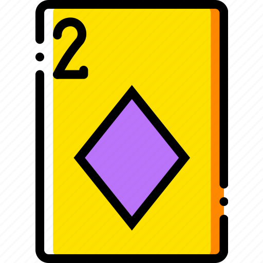 card, casino, diamonds, gamble, of, play, two icon