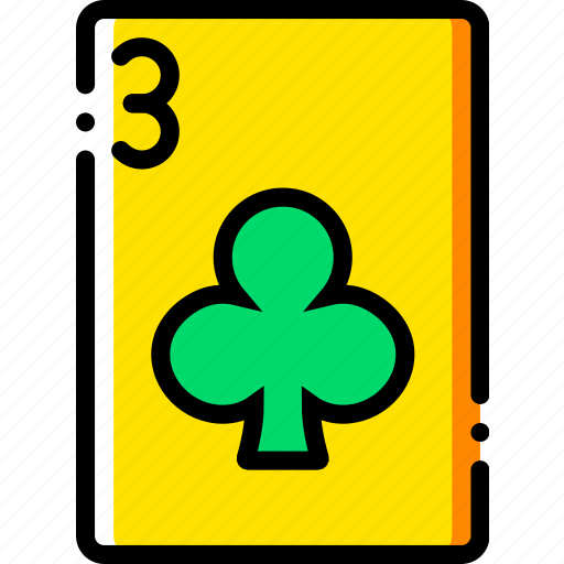 card, casino, clubs, gamble, of, play, three icon