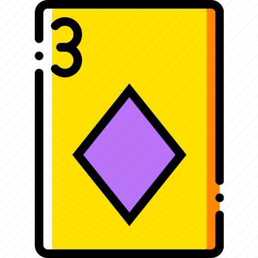 card, casino, diamonds, gamble, of, play, three icon