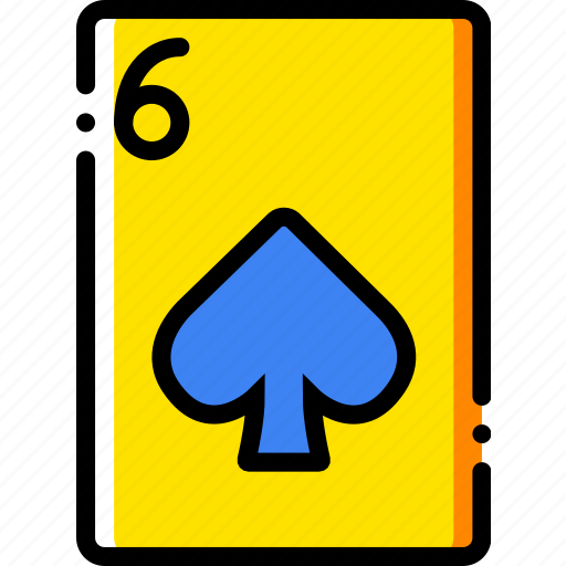 card, casino, gamble, of, play, six, spades icon