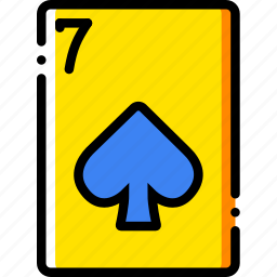 card, casino, gamble, of, play, seven, spades icon