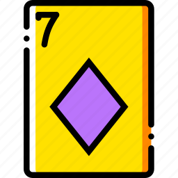 card, casino, diamonds, gamble, of, play, seven icon
