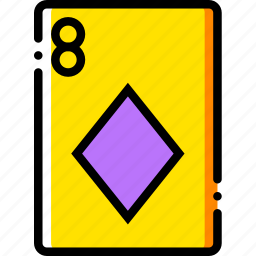 card, casino, diamonds, eight, gamble, of, play icon