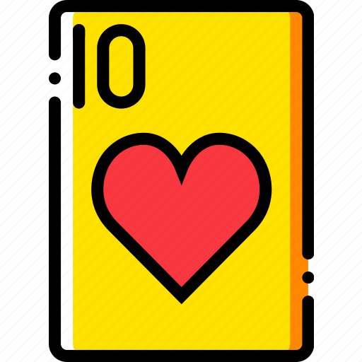 card, casino, gamble, hearts, of, play, ten icon