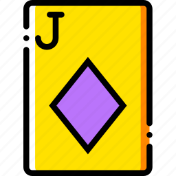 card, casino, diamonds, gamble, jack, of, play icon