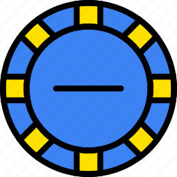 card, casino, chips, gamble, play, poker, substract icon