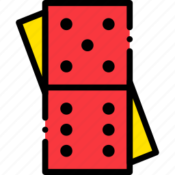 card, casino, domino, gamble, piece, play icon