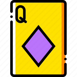 card, casino, diamonds, gamble, of, play, queen icon