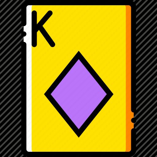 card, casino, diamonds, gamble, king, play icon