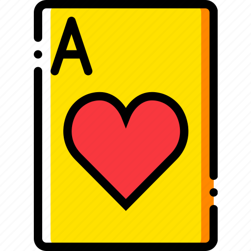 ace, card, casino, gamble, hearts, of, play icon